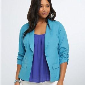 Torrid baby blue blazer size 3